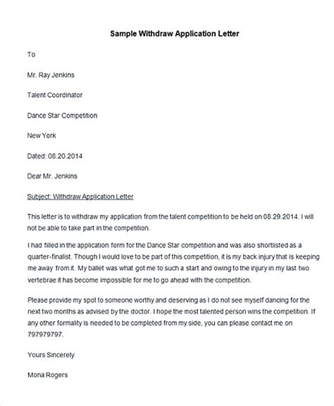 Sle Letter Of Withdrawal From Position management essay writing assistance uk custom management withdraw application letter rea s