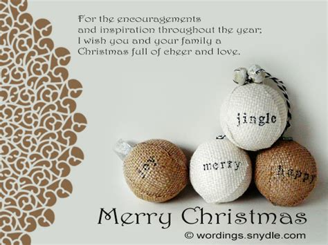 christmas   boss wordings  messages