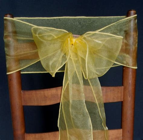 cheap yellow chair sashes yellow organza chair sashes bows table runners 6 5in