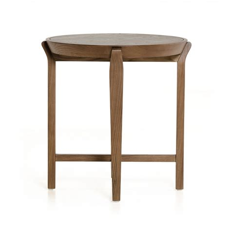 modrest olenna modern walnut side table end tables
