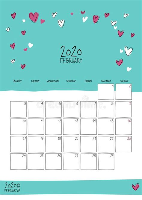 december  wall calendar doodle style stock vector illustration  cute month