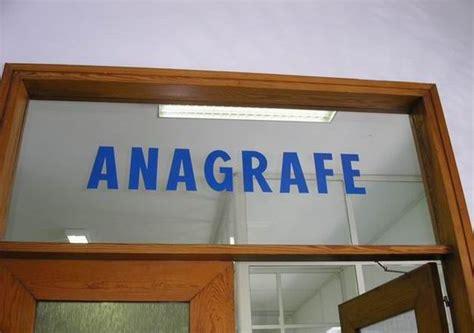 ufficio anagrafe comune di anagrafe
