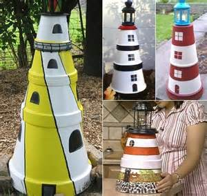 Decorative Lighthouses For In Home Use by How To Make A Clay Pot Lighthouse