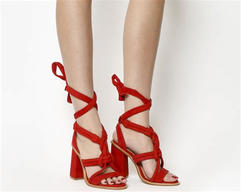 High Heels H 663 office knotted sandals suede high heels