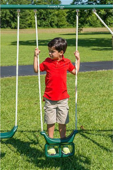 swing by swing looper flexible flyer big adventure swing set an excellent metal