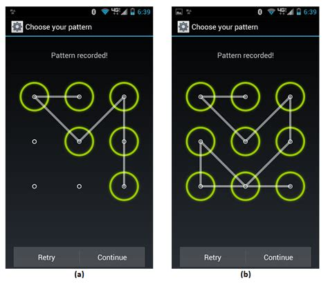pattern lock screen for android security of the android pattern lock possibly wrong