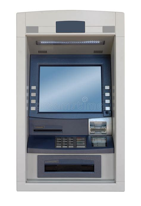 atm machine front view stock photo image  card money
