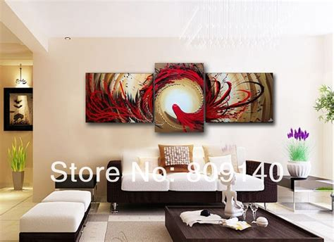 How To Decorate A New Home Free Shipping Fortune Flower Tree Painting Canvas Modern Home Office Hotel Wall Decor