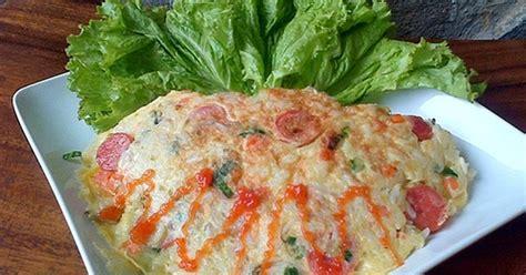resep omelet nasi keju jamur kancing aneka resep masakan resep omelet nasi toping keju dan jamur cocok untuk