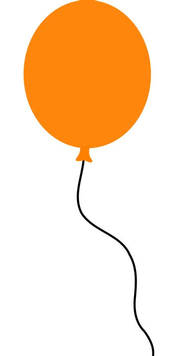 up a balloon with orange free vector graphic balloon floating orange