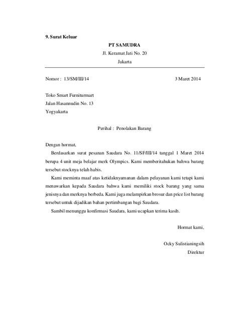 Contoh Surat Masuk dan Surat Keluar