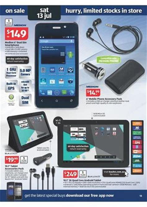 medion smartphone on aldi electronics within july sale