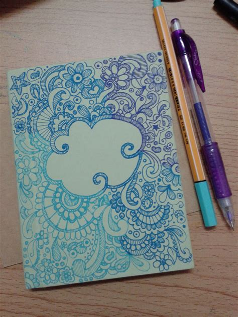 notebook cover design doodle for diy notebook cover my work pinterest