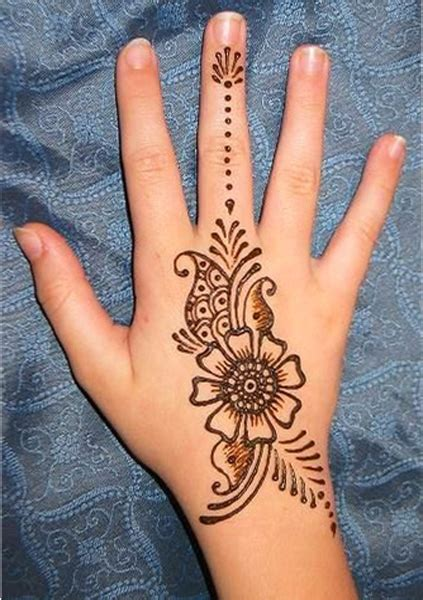 henna tattoos hand einfach 5 simple and easy henna design for beginners per my