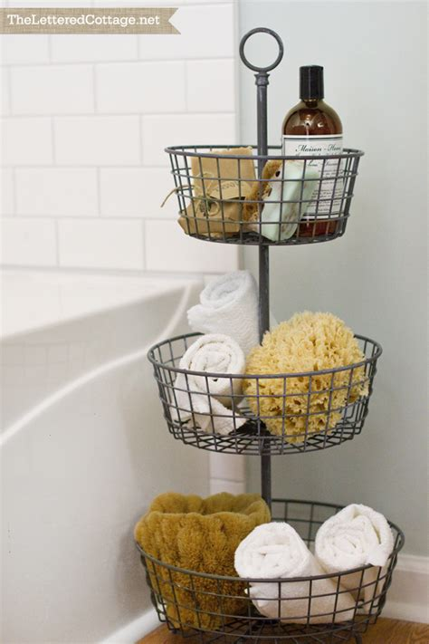 bathroom basket storage 25 bathroom space saver ideas