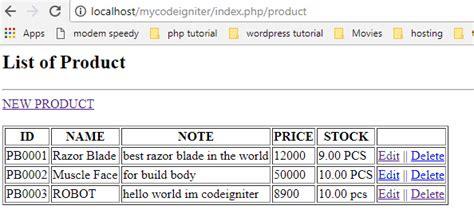 codeigniter tutorial point simple crud apps with codeigniter tutorial for beginners