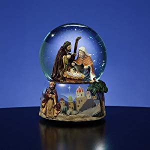 amazoncom church snow globes 5 5 quot musical magi religious nativity water globe glitterdome snow globes