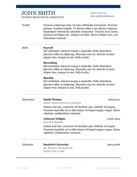Simple Resume Template On Word Basic Resume Template Word Health Symptoms And Cure