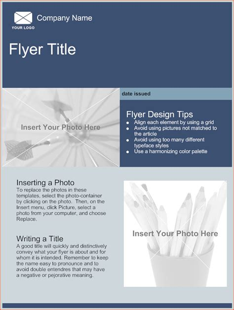 5 free flyer templates bookletemplate org