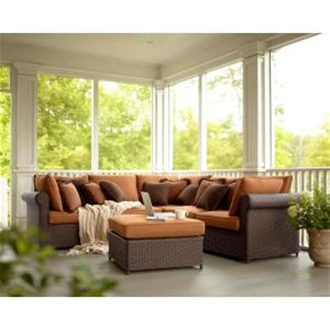 home depot outdoor sectional hton bay cibola 6 piece patio sectional seating set