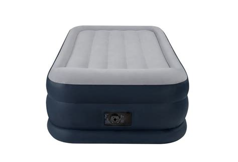 intex flocked top air bed mattress inflatable with built