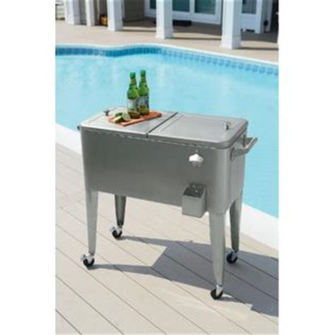 garden oasis 80qt stainless steel patio cooler