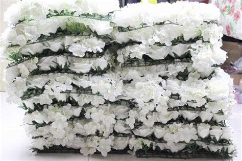 10Pcs/lot Ivory Artificial Hydrangea Rose Flower Wall