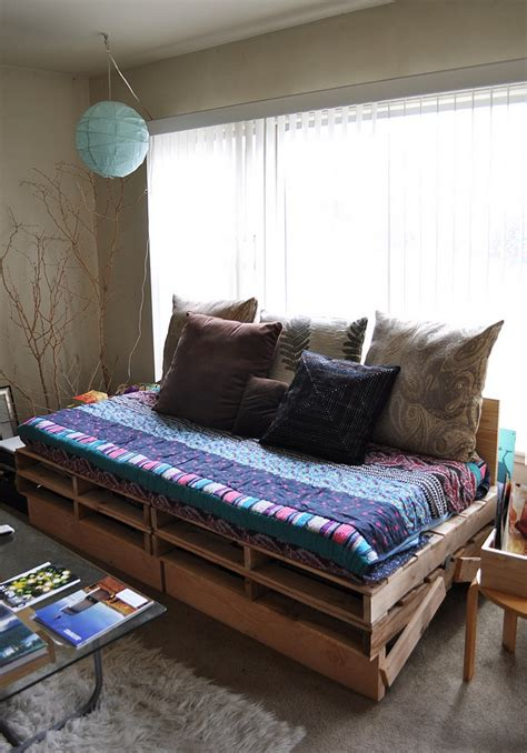 diy wood pallet bed upcycled pallet daybed ideas pallet wood projects