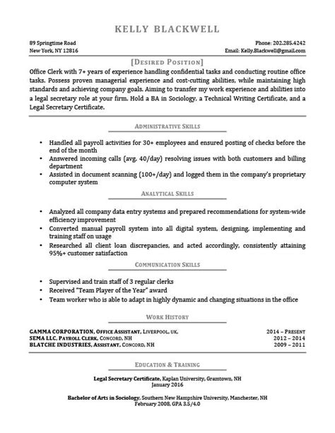 Resume Templates For Career Changers Career Level Situation Templates Resume Genius