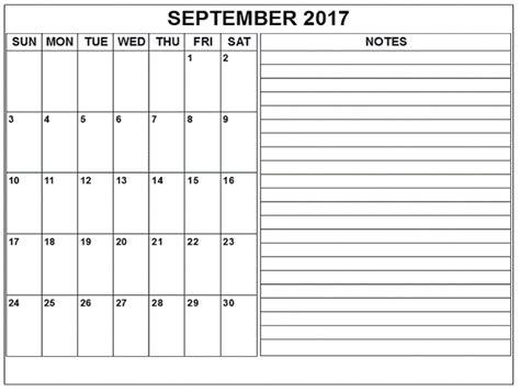 printable calendar page september 2017 september 2017 printable calendar pdf word excel