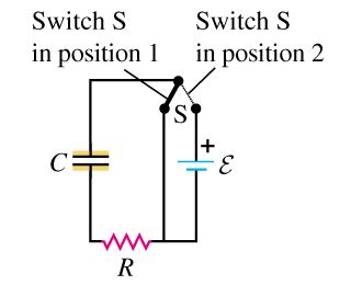charged capacitor and resistor mastering physics a capacitor with c 1 70 10 5f is connected as chegg