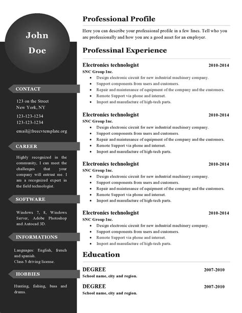 new resume template gfyork com