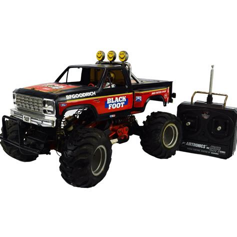 remote monster truck videos vintage tamiya blackfoot rc monster truck remote control 1