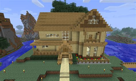 minecraft pe house designs minecraft wood house minecraft seeds for pc xbox pe ps3 ps4
