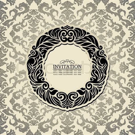 frame patterned wallpaper abstract background with black vintage frame old style