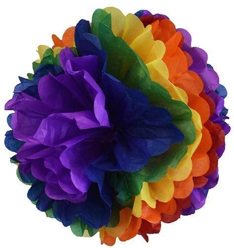 Rainbow Pompom tissue paper pom pom 12inch rainbow