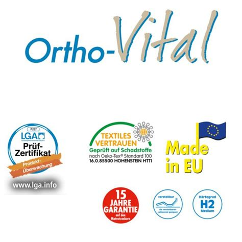 ortho vital matratze ortho vital komfort matratze 90 x 200 cm norma f 252 r 49