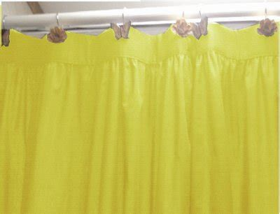Solid Bright Lemon Yellow Colored Shower Curtain