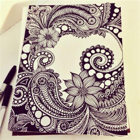 doodle drawing inspiration zen tangle