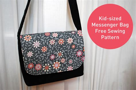 pattern sewing machine bag kid sized messenger bag free pattern and sewing tutorial