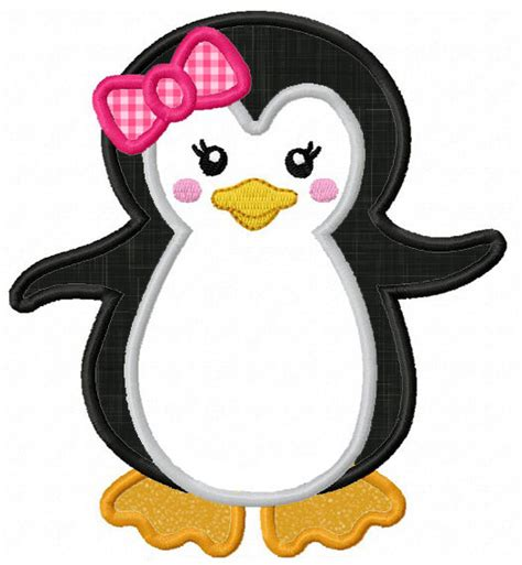 penguin applique instant penguin applique machine embroidery