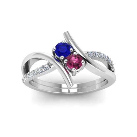 two engagement rings fascinating diamonds