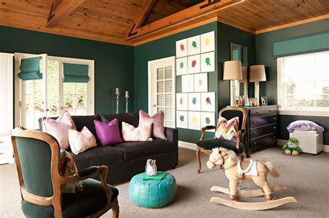 Bathroom Window Curtains Hunter Green Walls Contemporary Nursery Jenn Feldman