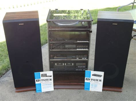 Cabinet Rack Sound System fisher stereo system w cabinet and speakers