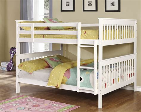white full over full bunk beds white full over full bunk bed 460360 coaster furniture