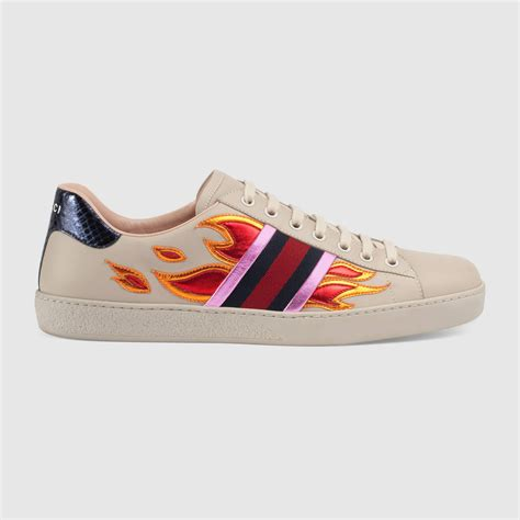 Gucci Shoes ace low top sneaker with flames gucci s sneakers