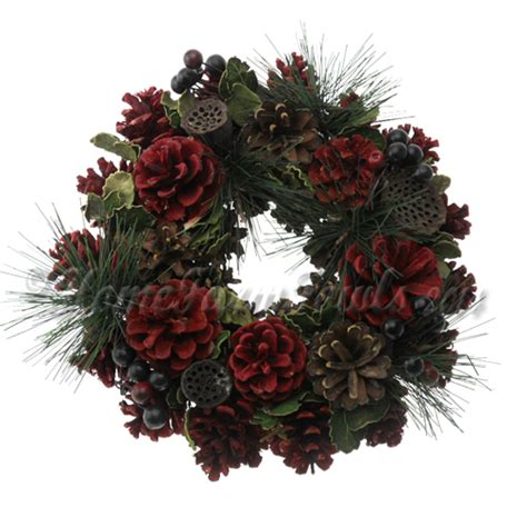 winter christmas wreath small home farm fowls