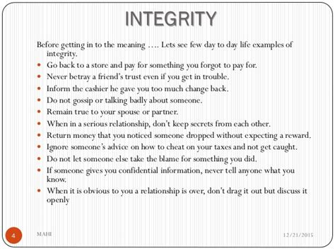 exle of integrity mmk values and work ethics integrity healthy
