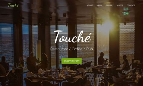 bootstrap themes free restaurant touche free restaurant bootstrap template