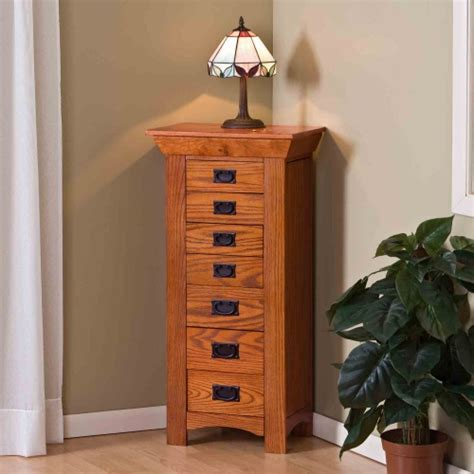 mission oak jewelry armoire mission oak jewelry armoire at hayneedle